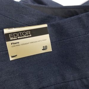 New Express Editor Low waist Flare blue Pants